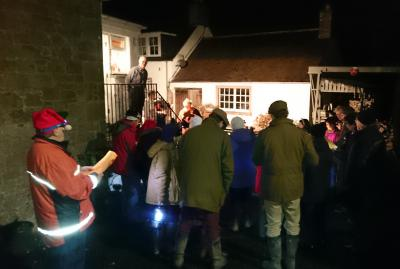 Carol singing at Maxton